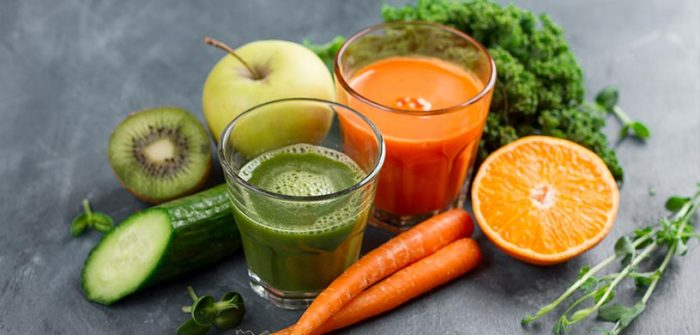 juice with fruits and vegetables